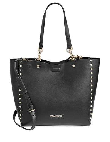 Karl Lagerfeld Paris Adele Shopper Bag-BLACK-One Size