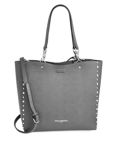 Karl Lagerfeld Paris Adele Shopper Bag-GREY-One Size