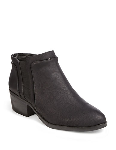 Karl Lagerfeld Paris Aimee3 Pebbled Ankle Boots-BLACK-5