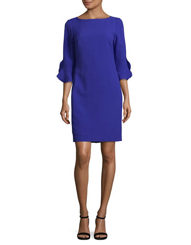 Karl Lagerfeld Paris Tulip Cuff Dress-COBALT-6