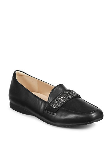 Karl Lagerfeld Paris Quincey3 Embellished Loafers-BLACK-7.5