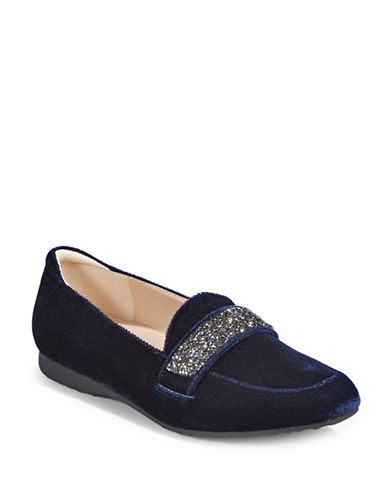 Karl Lagerfeld Paris Luscious Glitter Loafers-NAVY-8.5