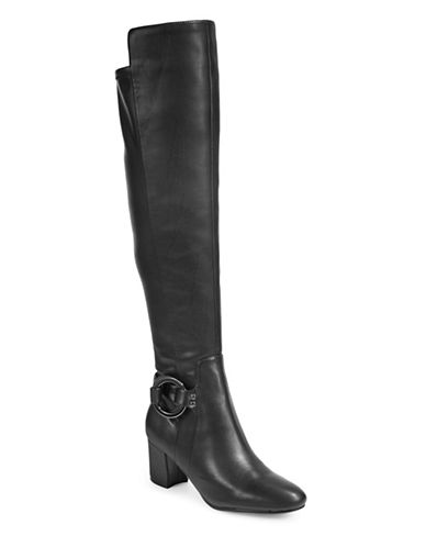 Karl Lagerfeld Paris Cami Over-the-Knee Boots-BLACK-9.5