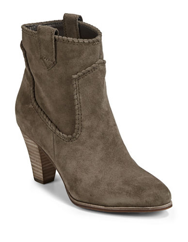 Karl Lagerfeld Paris Provence Western Ankle Boots-GREY-11