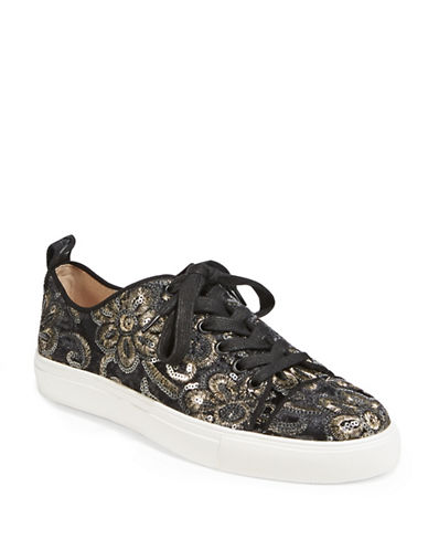 Karl Lagerfeld Paris Evron2 Jacquard Sneakers-BLACK PEWTER-7.5