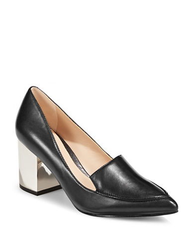 Karl Lagerfeld Paris Aressa Leather Pumps-BLACK-5.5