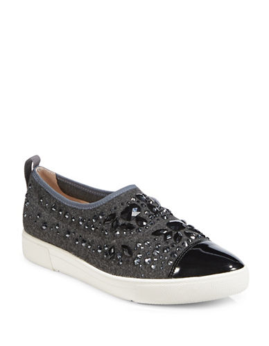 Karl Lagerfeld Paris Arden2 Embellished Point-Toe Sneakers-GRAPHITE-11