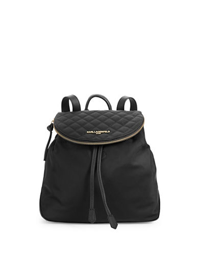 Karl Lagerfeld Paris Cara Nylon Backpack-QUILTED-One Size