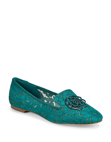 Karl Lagerfeld Paris Lace Loafers-BLUE-6.5