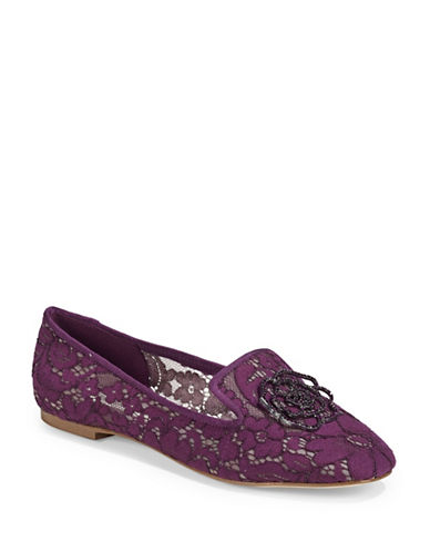 Karl Lagerfeld Paris Lace Loafers-PURPLE-6.5