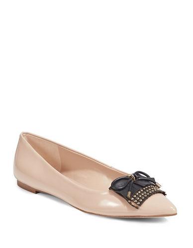Karl Lagerfeld Paris Tassel Toe Ballet Flat-BEIGE-5.5