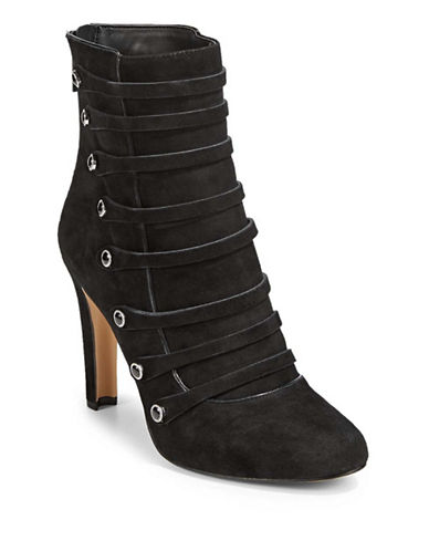 Karl Lagerfeld Paris Strappy Booties-BLACK-8