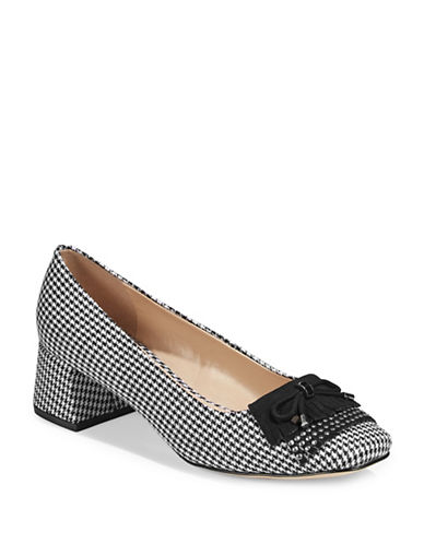 Karl Lagerfeld Paris Cindy Fringed Fabric Pumps-GREY-7.5