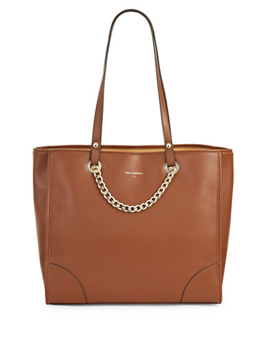 Karl Lagerfeld Paris Lucille Tote-BROWN-One Size