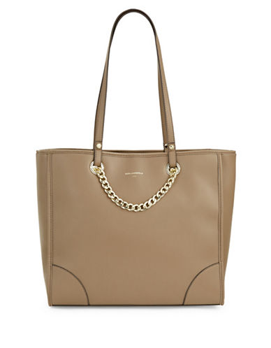 Karl Lagerfeld Paris Lucille Tote-TAUPE-One Size