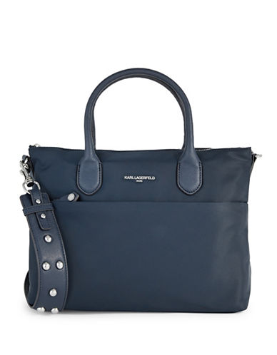 Karl Lagerfeld Paris Arielle Short Tote-NAVY BLUE-One Size
