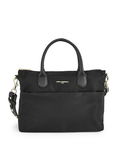 Karl Lagerfeld Paris Arielle Short Tote-BLACK-One Size
