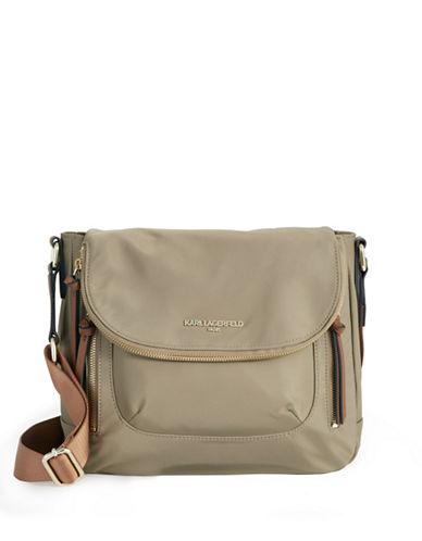 Karl Lagerfeld Paris Cara Crossbody Bag-LIGHT KHAKI-One Size