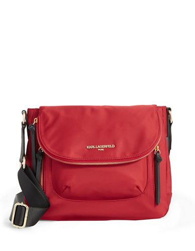 Karl Lagerfeld Paris Cara Crossbody Bag-RED-One Size