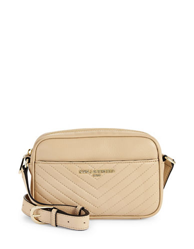 Karl Lagerfeld Paris Charlotte Leather Crossbody-NUDE-One Size
