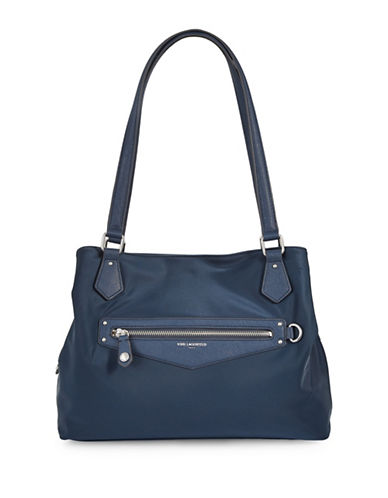 Karl Lagerfeld Paris Sophie Triple Compartment Tote-NAVY-One Size
