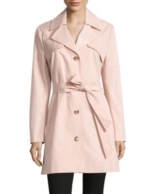 Luxe Twill Skirted Trench