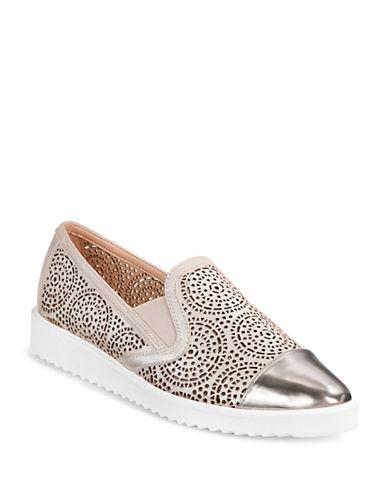 Karl Lagerfeld Paris Cora Metallic Laser-Cut Shoes-METALLIC-8.5