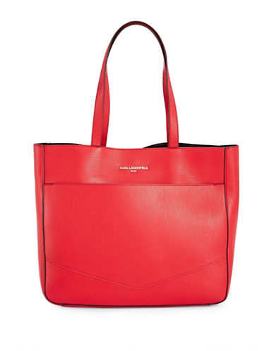 Karl Lagerfeld Paris Fara From Paris with Love Tote-RED-One Size