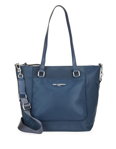 Karl Lagerfeld Paris Cara Tote Bag-BLUE-One Size