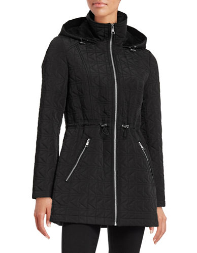 Karl Lagerfeld Paris Signature K-Quilt Anorak Jacket-BLACK-X-Large 88554954_BLACK_X-Large