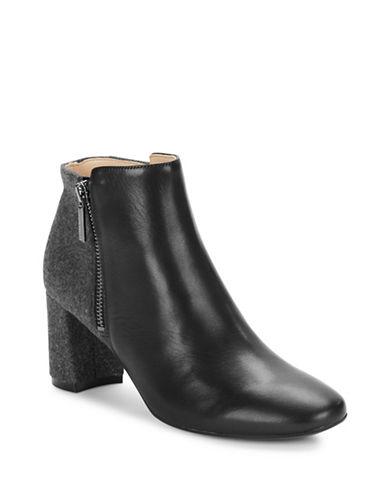 Karl Lagerfeld Paris Colourblocked Leather Ankle Boots-BLACK GREY-6.5 88845465_BLACK GREY_6.5