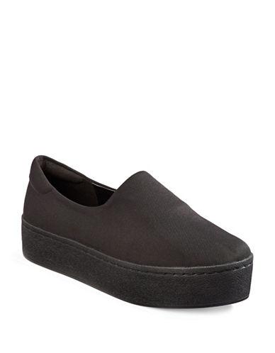 Karl Lagerfeld Paris Vienne Mesh Platform Sneakers-BLACK-8