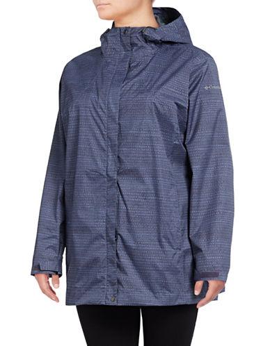 Columbia Splash a Little Rain Jacket-PURPLE-1X