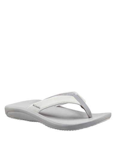 Columbia Baracca Omni-Grip Flipflops-WHITE-8