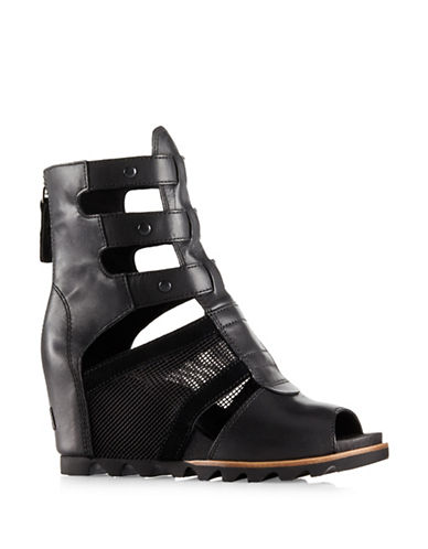 Sorel Joanie Gladiator Wedges-BLACK-6.5