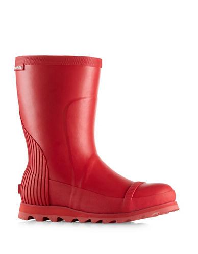 Sorel Joan Short Rain Boots-RED-9