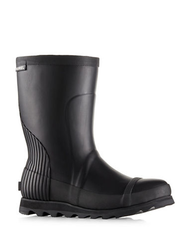 Sorel Joan Short Rain Boots-BLACK-8