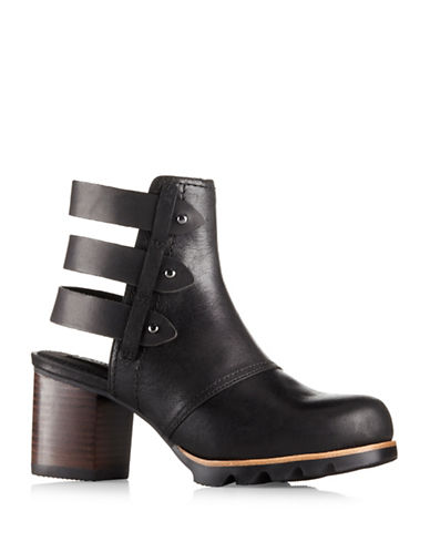 Sorel Addington Leather Booties-BLACK-6
