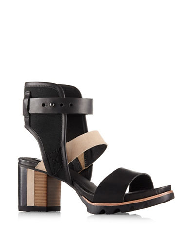 Sorel Addington Cuff Sandals-BLACK-9