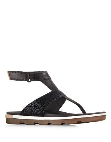Sorel Torpeda Ankle Strap Sandals-BLACK-6