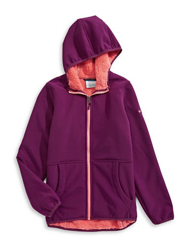 Columbia Fleece-Lined Jacket-PURPLE-Large