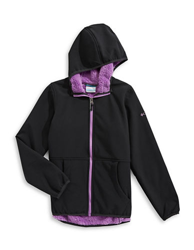 Columbia Fleece-Lined Jacket-BLACK-X-Small