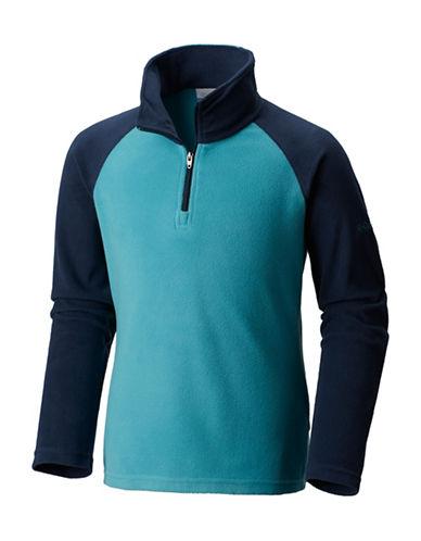 Columbia Half-Zip Fleece Sweater-BLUE-Large