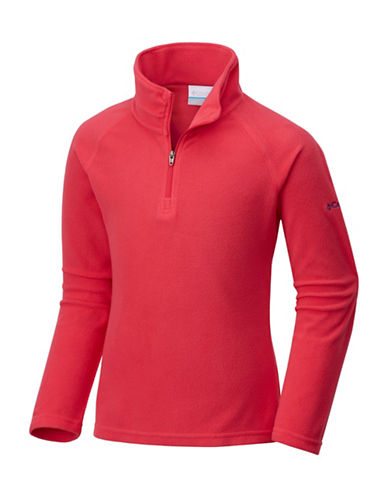 Columbia Half-Zip Fleece Sweater-RED-X-Small 89717082_RED_X-Small