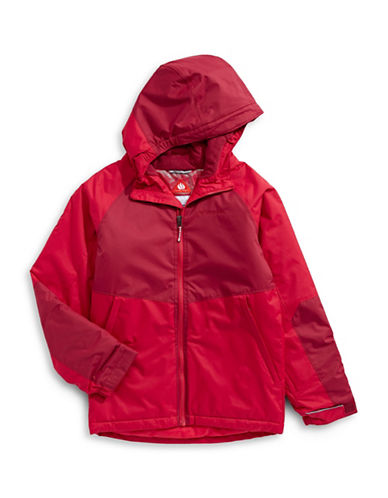 Columbia Alpine Seamed Hooded Jacket-RED-Large