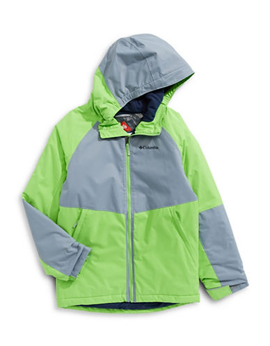 Columbia Alpine Seamed Hooded Jacket-GREEN-X-Small