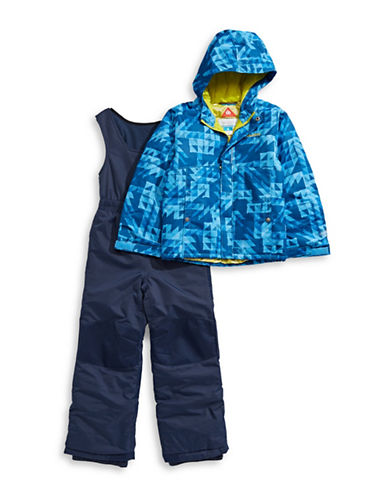 Columbia Two-Piece Buga Snows Jumpsuit and Jacket Set-BLUE-XXSmall