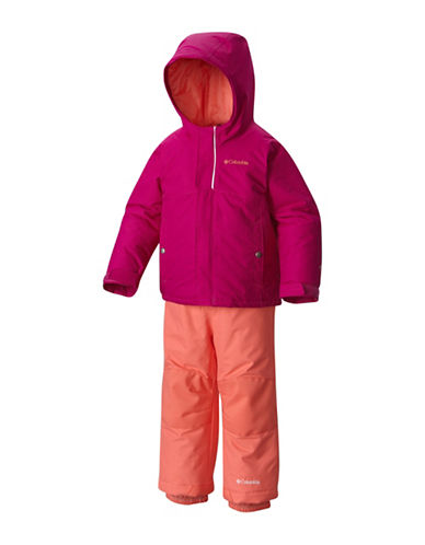 Columbia Two-Piece Frost Slope Set-RED-XXSmall