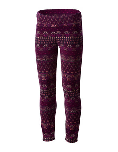 Columbia Printed Fleece Leggings-RED-Large 89717174_RED_Large