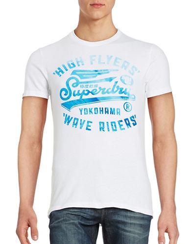 Superdry High Flyers Wave T-Shirt-WHITE-Medium 89080930_WHITE_Medium